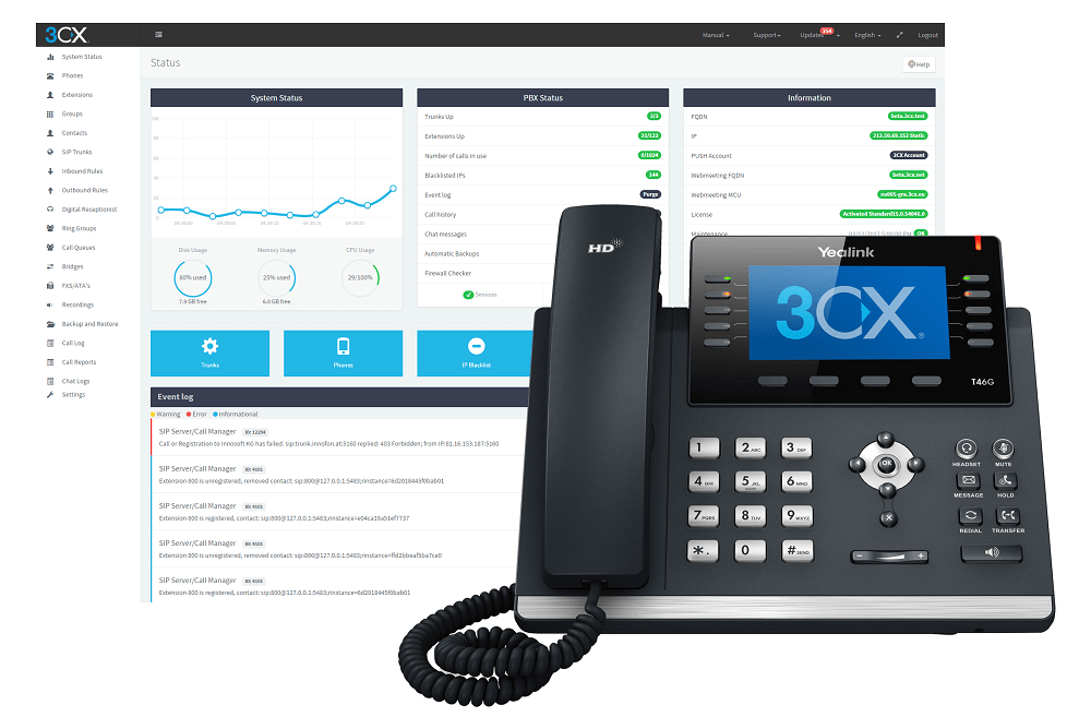 Console administration 3CX Phone System